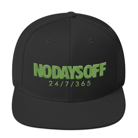 No Days Off Snapback Hat