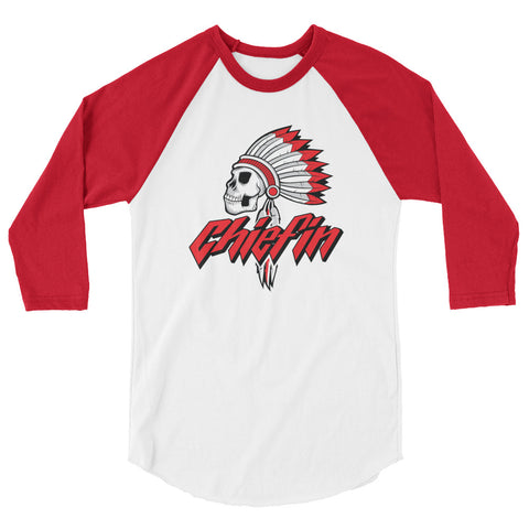 Savage Chiefin 3/4 sleeve raglan shirt