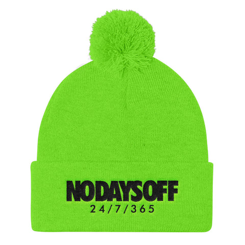 No Days Off Pom Knit Cap