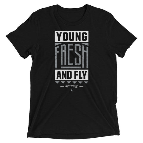 Retro Kings Fresh and Fly Smoke Grey 10s Premium Fit Tee