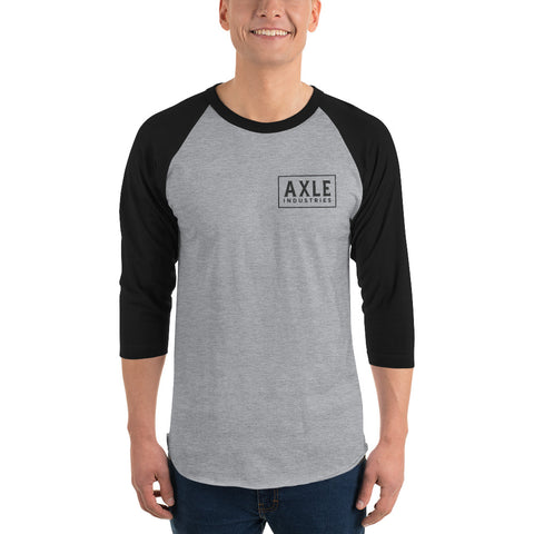 Axle Brand Maricopa 3/4 Sleeve Raglan Heather Grey and Black Shirt