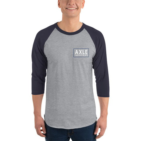 Axle Brand Maricopa 3/4 Sleeve Raglan Grey and Navy Shirt