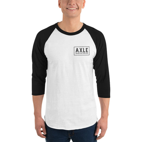 Axle Maricopa 3/4 Sleeve Raglan White and Black Shirt