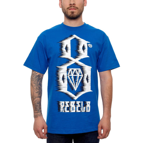 Rebel 8 88MPH Royal and White Tee