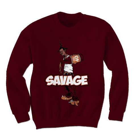 Savage Be a Menace Bordeaux 5s Sweatshirt