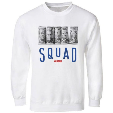 OutRank Apparel Squad True Blue 3's Crewneck