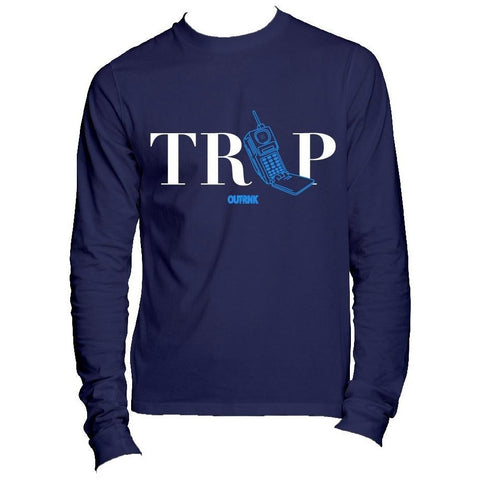 OutRank Apparel Trap Phone Win Like 82 11s Long Sleeve Tee