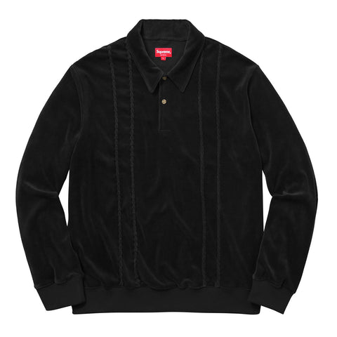 Supreme Velour L/S Polo
