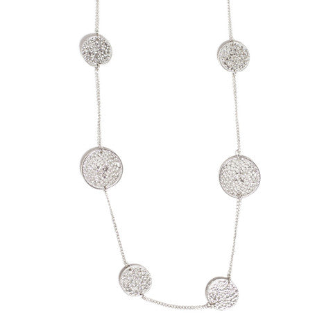 Marlyn Schiff Disc Necklace Silver