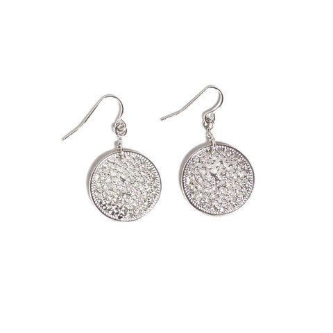 Marlyn Schiff Disc Earrings Silver