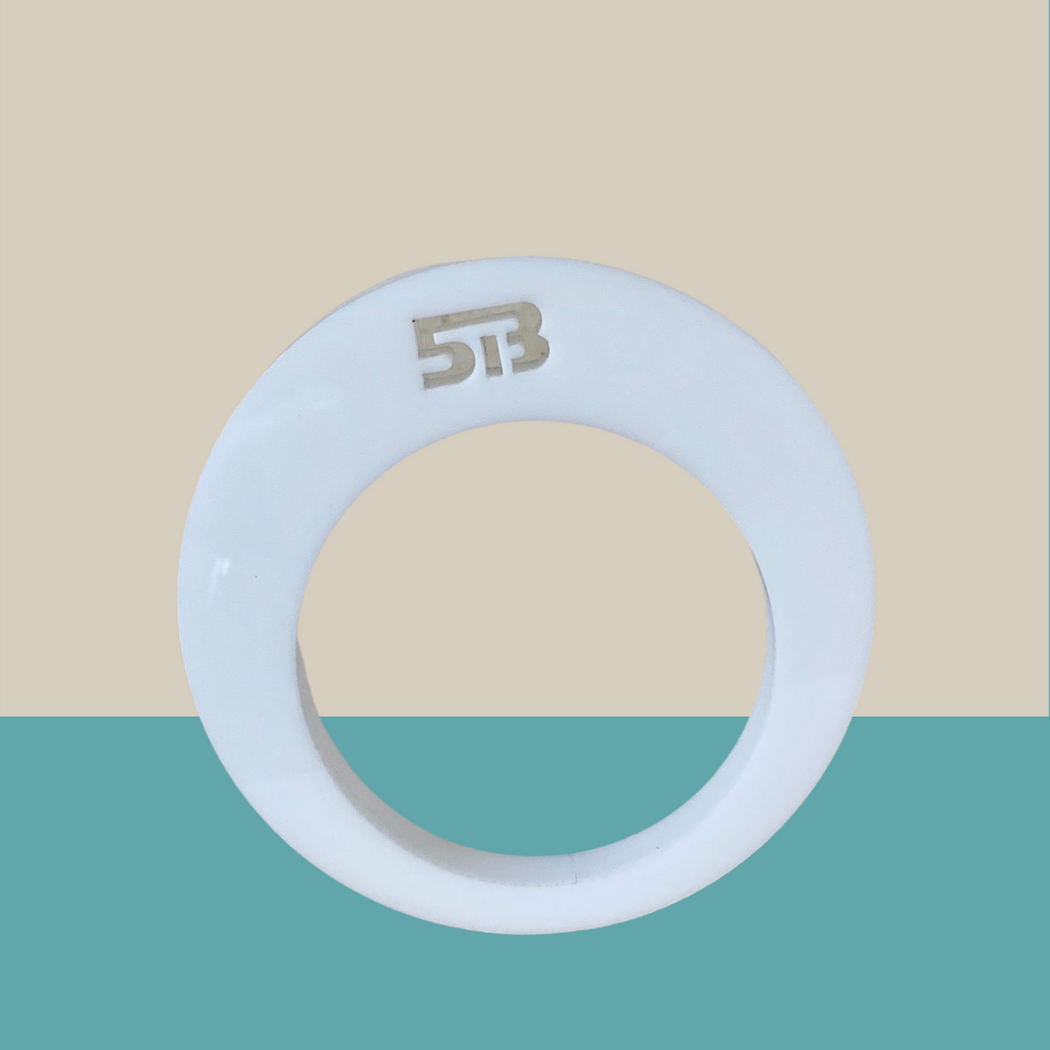 Matt White Round Apartment 5B bangle