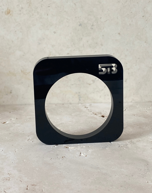 Matt Black Square Apartment 5B bangle