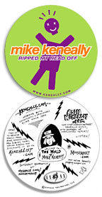 """Mike Keneally Ripped My Head Off"" Sticker"