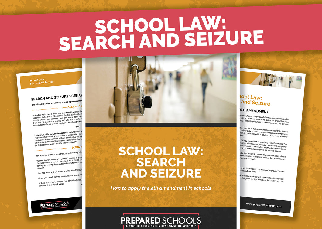 School Law: Search and Seizure
