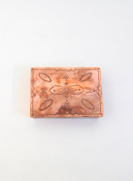Stamped Copper Rectangle Box