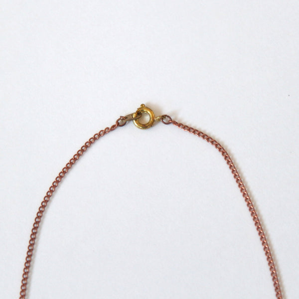 Vintage Copper Chain with Stars Necklace