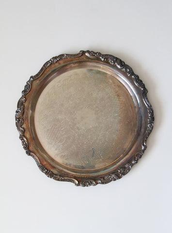 Large Baroque By Wallace Silverplate Tray