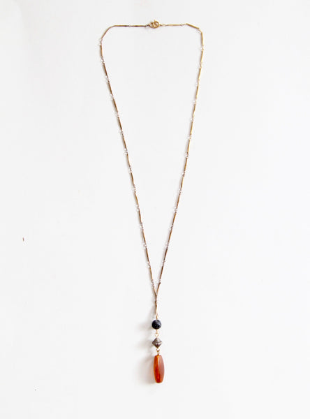 Amber Drop Diffuser Necklace