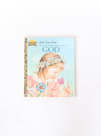 Vintage Children's Little Golden Book About God
