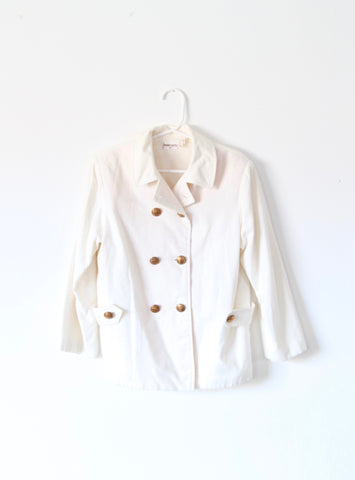 Vintage Children's White Peacoat