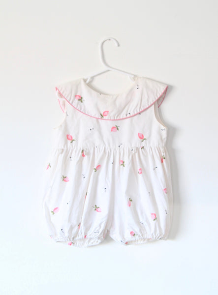 Vintage Children's Rose Bud Romper