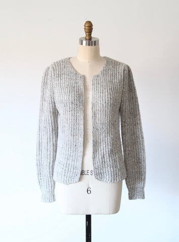 Vintage Heather Gray Speckled Cardigan