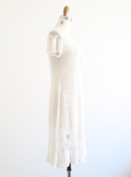 Vintage White Crochet Dress