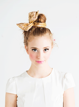 Twist Headband - Metallic Gold