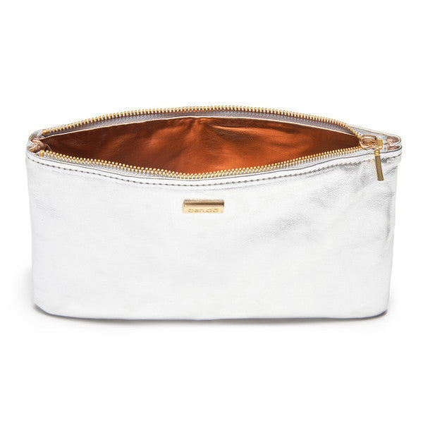 Keep it Classy Zip Clutch - Silver