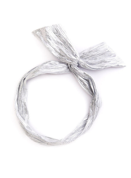 Twist Headband - Metallic Silver