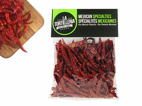 La Tortilleria Chile de Arbol 3oz