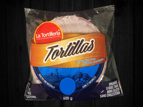 Tortillas Organic Blue Corn