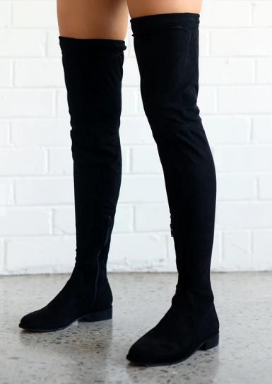 TINSLEY BOOT - BLACK SUEDE