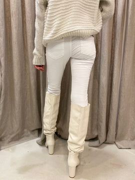ITALIAN BUTTON JEANS - WHITE