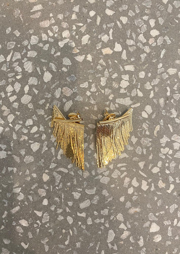 GOLDEN FRINGE EARRINGS SHORT