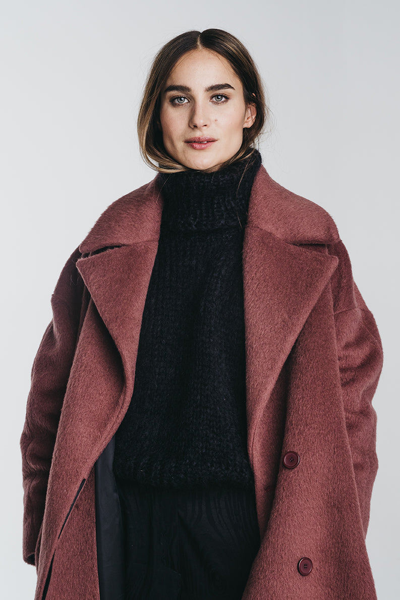 KAAMOS long coat in mauve