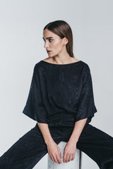 KAARNA box shirt in black