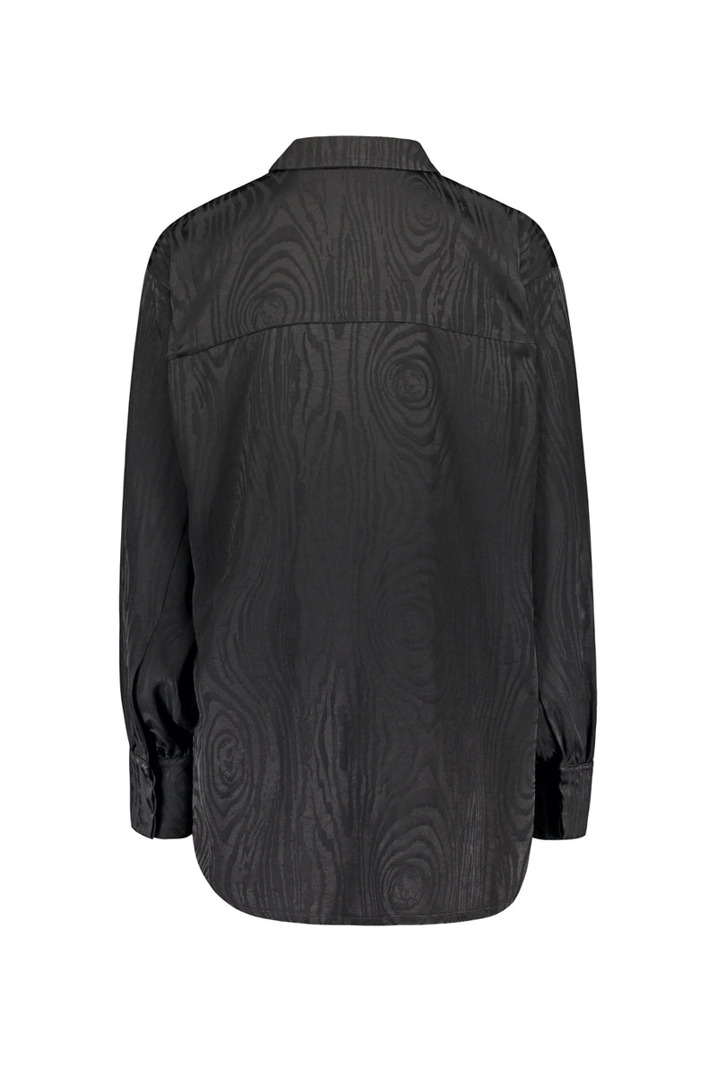 KAARNA collar shirt in black