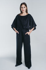 KAARNA wide pants in black