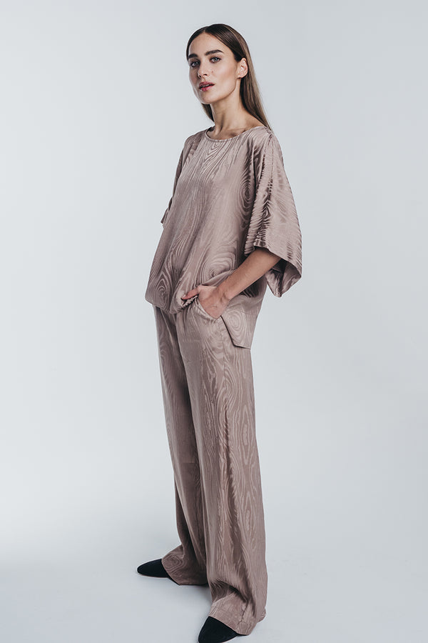 KAARNA wide pants in sand