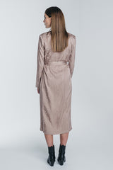 KAARNA midi wrap dress in sand