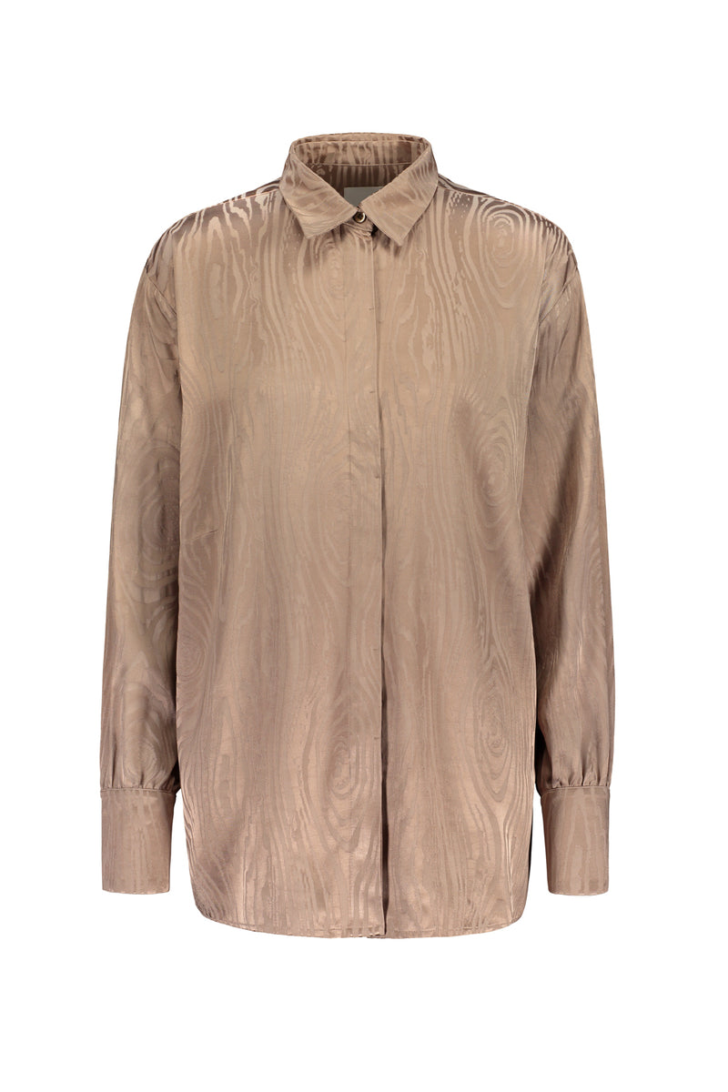 KAARNA collar shirt in sand