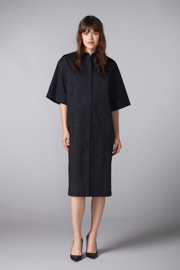 KAARNA shirt dress in black
