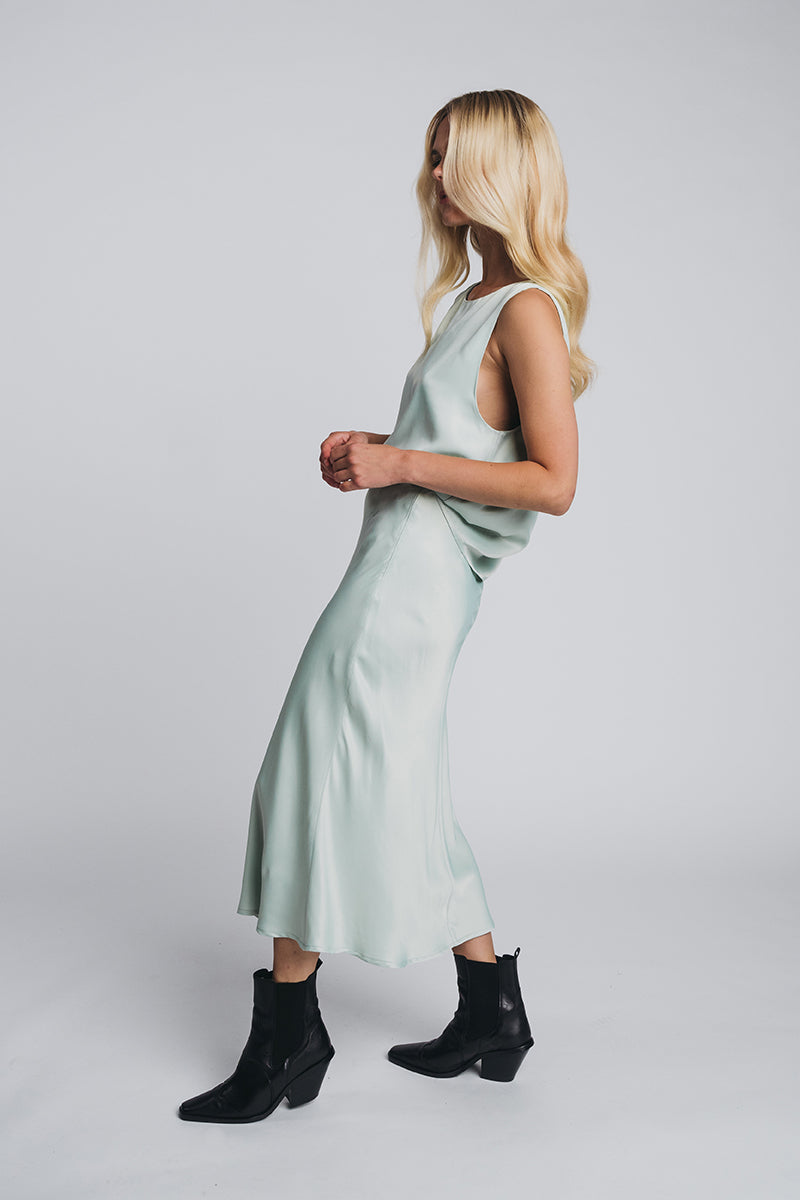 KAJO loose top in misty green