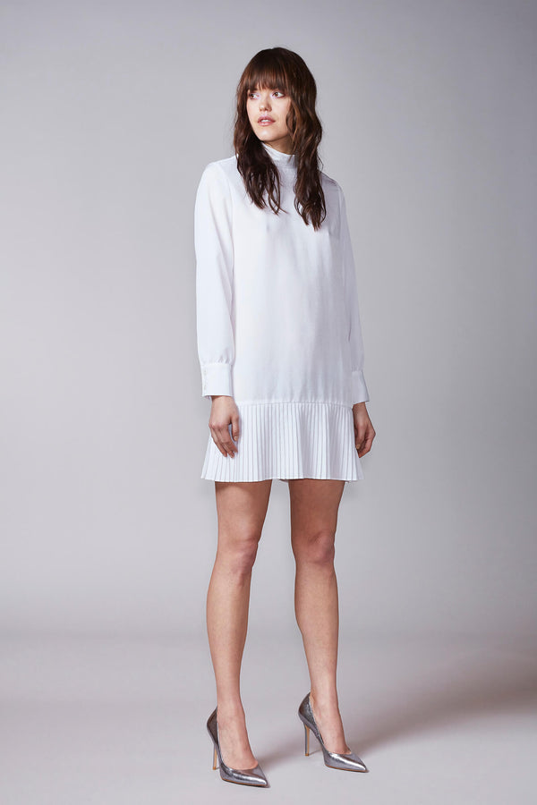 KAJO shirt dress in white