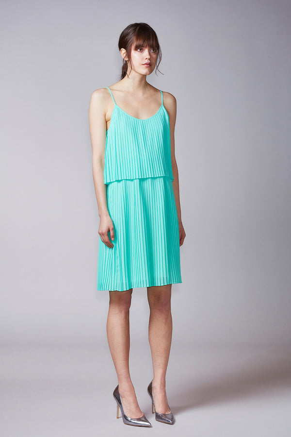KAJO slip dress in mint