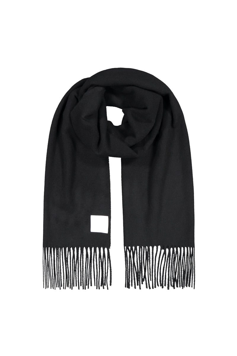 KAJO wool scarf in black
