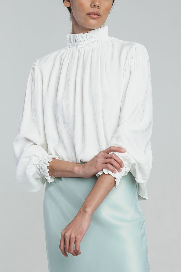 NEVA blouse in white