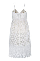 NEVA lace dress in white