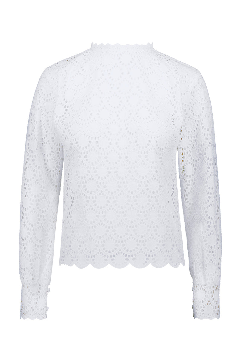 NEVA lace shirt in white